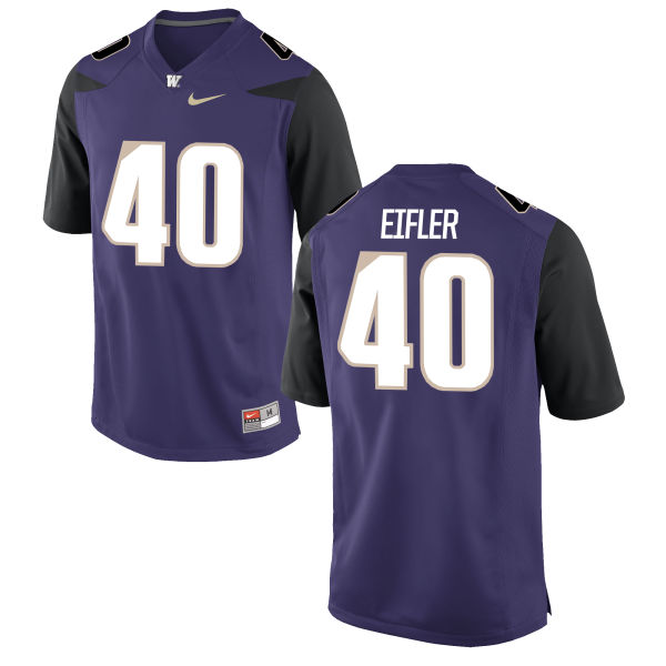 Men's Nike Camilo Eifler Washington Huskies Game Purple Football Jersey