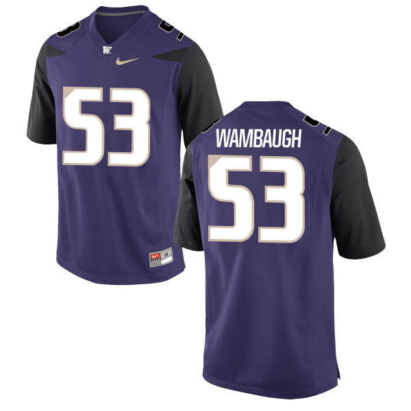 Men's Nike Jake Wambaugh Washington Huskies Game Purple Football Jersey