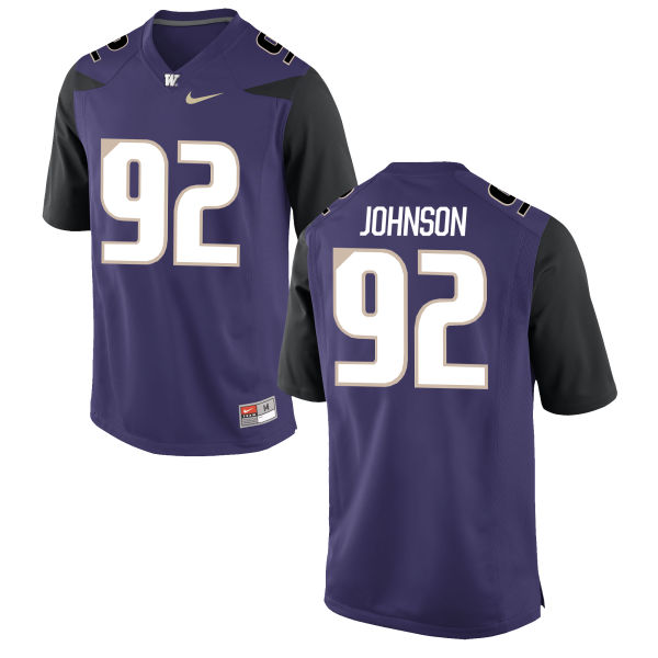 Men's Nike Jaylen Johnson Washington Huskies Game Purple Football Jersey