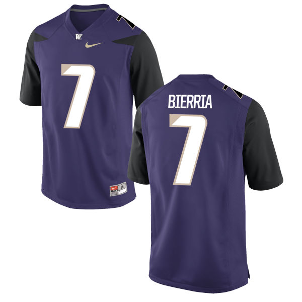 Men's Nike Keishawn Bierria Washington Huskies Game Purple Football Jersey