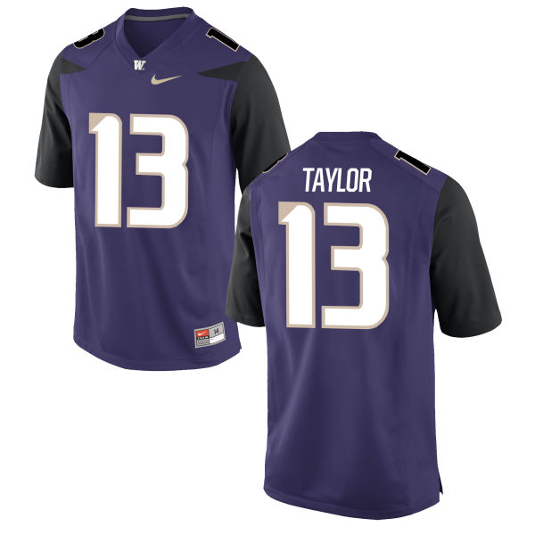 Men's Nike Kendyl Taylor Washington Huskies Authentic Purple Football Jersey